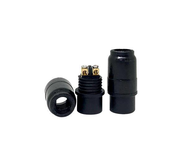 Bocal / Soquete E14 pendente termoplástico, cor preto, 1A, 0-250V, (caixa 100un.)