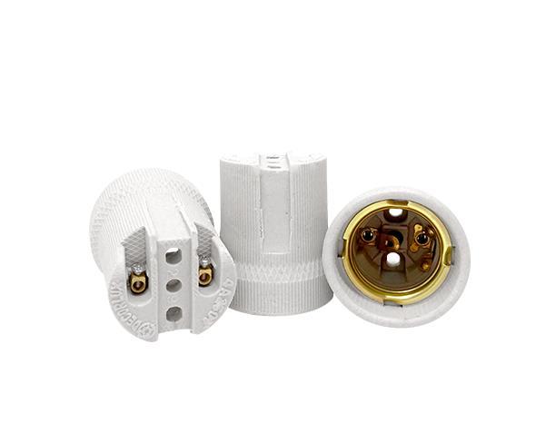 Bocal / Soquete E27 especial spot porcelana, cor branco 4A, 0-250V, (caixa 50un.)