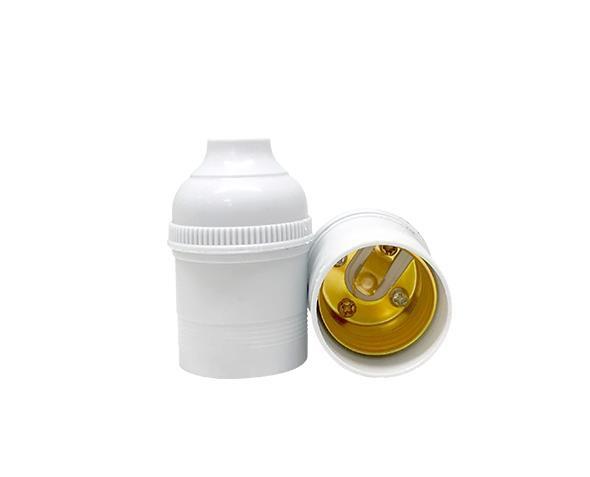 Bocal / Soquete E27 pendente sem chave, cor branco, 4A, 0-250V, (caixa 50un.)