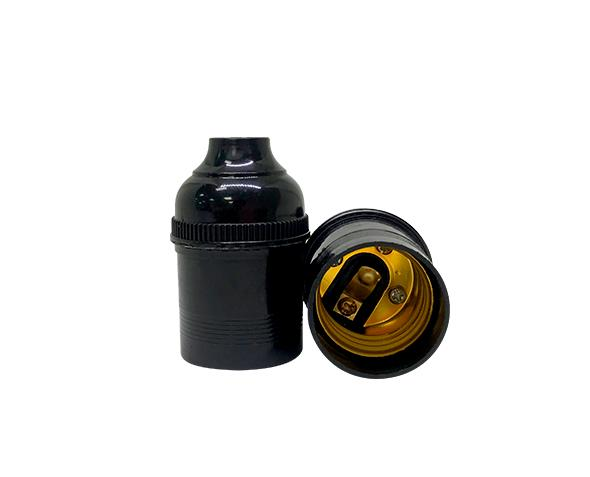 Bocal / Soquete E27 pendentesem chave, cor preto, 4A, 0-250V, (caixa 50un.)