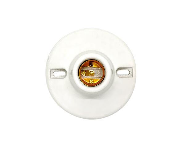 Bocal / Soquete E27 plafon porcelana, cor branco, 4A, 0-250V, (1un.)