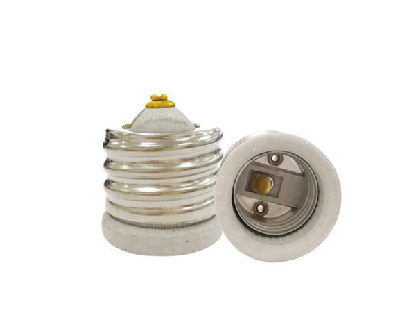 Bocal/Soquete E40 p/E27 adaptador porcelana, cor branco, 4A/0-250V, caixa com 20 unidades