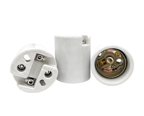 Bocal / Soquete E40 porcelana, cor branco, 16A, 0-500V, caixa com (10un.)