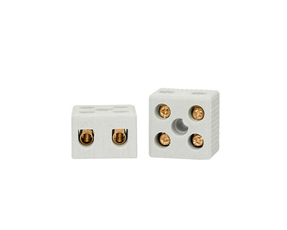 Conector de porcelana 10mm 50A, 600V, 2pólos (caixa 50un.)