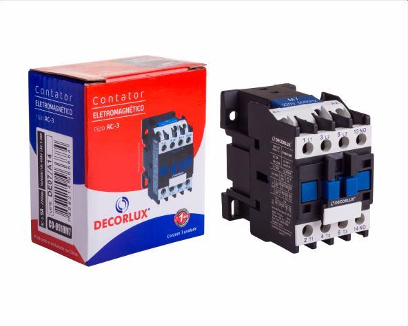 Contator eletromagnético AC, 12A/220Vac