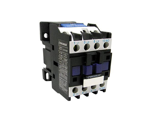 Contator eletromagnético AC, 12A, 24Vac, (1un.)