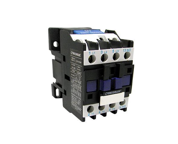 Contator eletromagnético AC, 9A, 24Vac, (1un.)