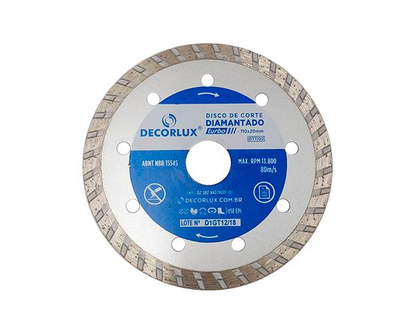 Disco de corte diamantado, turbo, 110x20mm, (1un.)