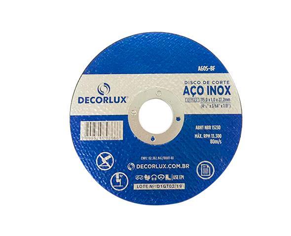 Disco de corte, inox, 115x1,0x22,23mm,  (10un.)