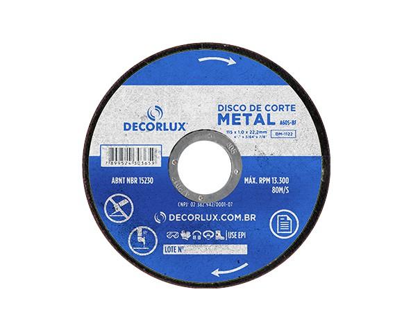 Disco de corte, metal, 115x1,0x22,23mm, (10un.)