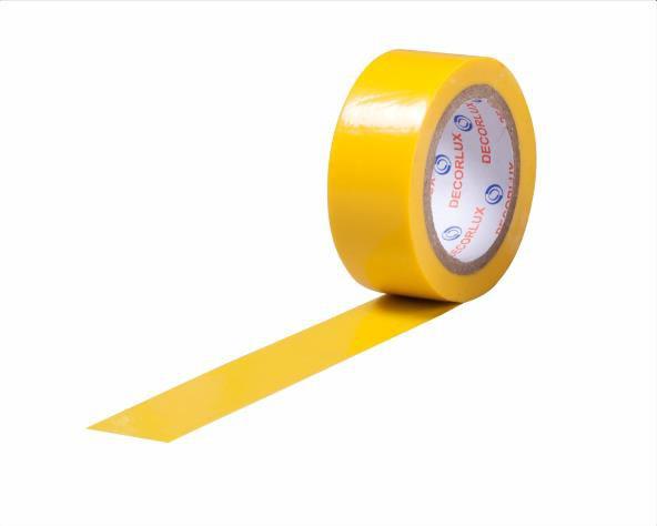 Fita isolante 18mmx10m cor amarelo, tubo (10un.)
