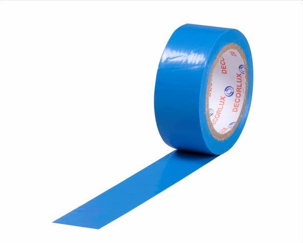 Fita isolante 18mmx10m cor azul, tubo 10 unidades