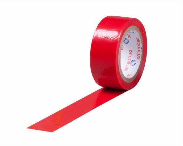 Fita isolante 18mmx10m cor vermelho, tubo 10 unidades