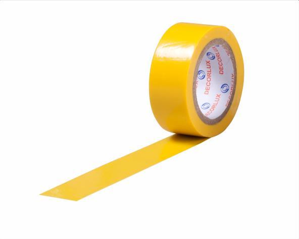 Fita isolante 18mmx5m cor amarelo, tubo 10 unidades
