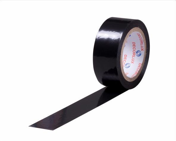 Fita isolante 18mmx5m cor preto, tubo (10un.)