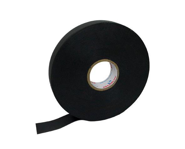 Fita isolante auto fusão 0,76mm x 19mm x 10m, cor preto,(10un.)
