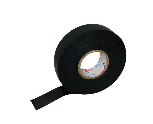 Fita isolante auto fusão 0,76mm x 19mm x 5m, cor preto,(10un.)