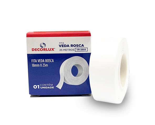 Fita Veda Rosca Branca 18mmx25m