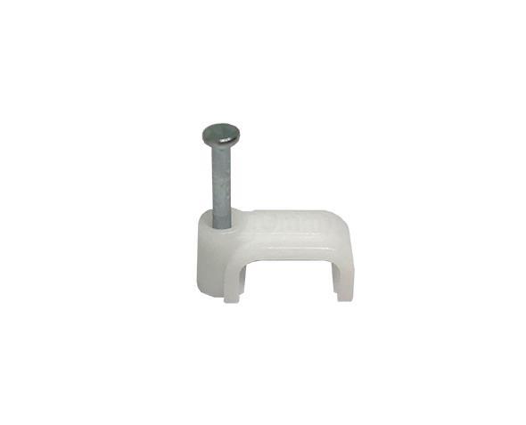 Fixador de fio retangular 6,0mm², cor branco, (pacote 50un.)