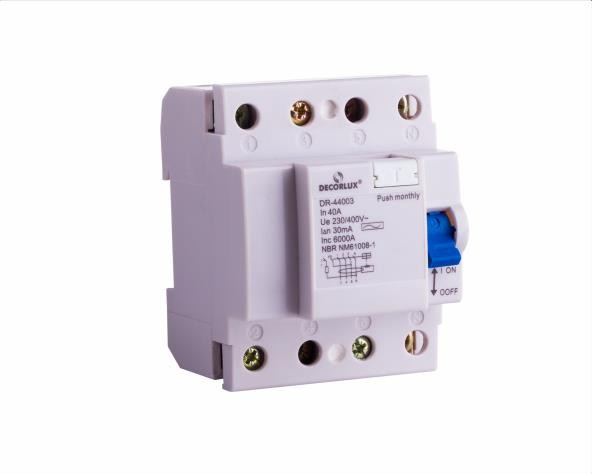 Interruptor, diferencial residual DR 25A-4P 30mA Tipo AC, (1un.)
