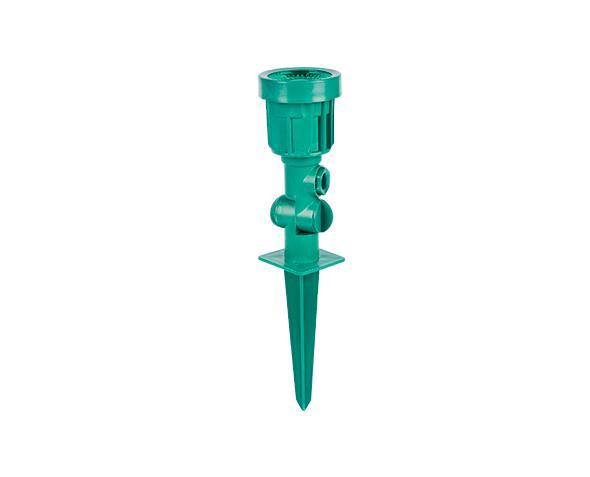 Luminária espeto de jardim LED,  100-240V 5W, corpo verde, luz cor verde