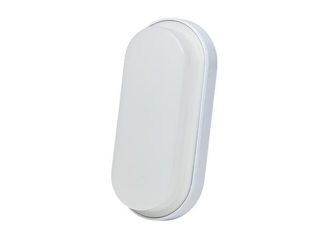 Luminária LED Parede Oval 100 240V 12W 6000K Branco, Cx 1und, (1un.)