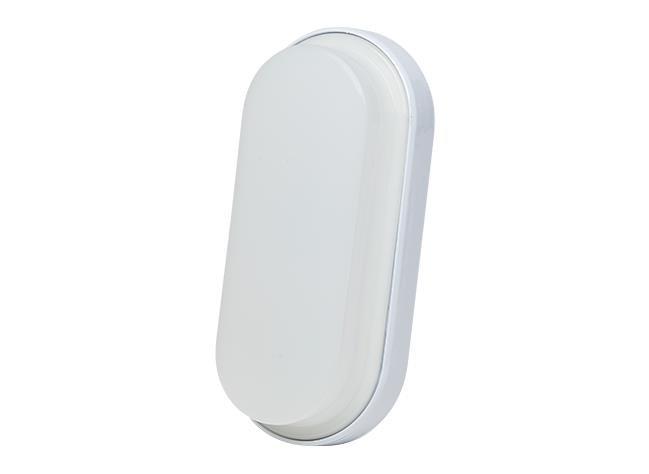 Luminária LED Parede Oval 100 240V 18W 6000K Branco, Cx 1und, (1un.)