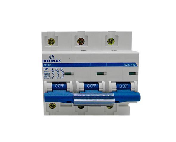 Mini disjuntor tripolar 100A 230-400V, (1un.)
