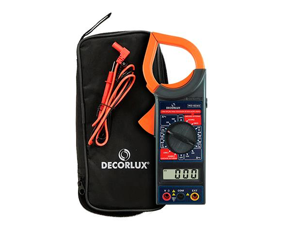 Multímetro digital Decorlux, Alicate Amperímetro, 1000A, 750V, (1un.)