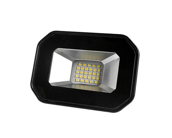 Refletor DecorLED Super LED, 100-240V 20W luz branca, cor preto, (1un.)