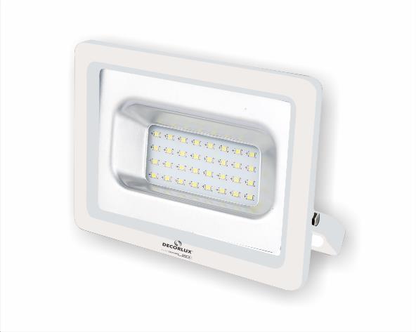 Refletor DecorLED Super LED, 100-240V 30W luz branca, cor branco