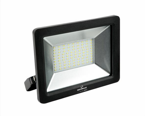 Refletor DecorLED Super LED, 100 240V 30W luz verde, cor preto, (1un.)