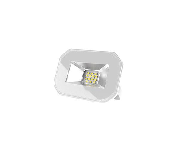Refletor super LED, 100-240V 10W luz branca, cor branco, (1un.)