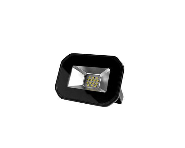 Refletor super LED, 100-240V 10W luz branca, cor preto, (1un.)