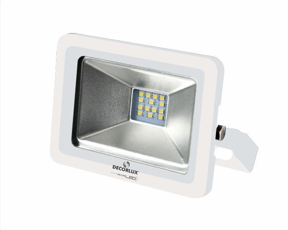 Refletor super LED, 100-240V 10W luz cor verde, cor branco, (1un.)