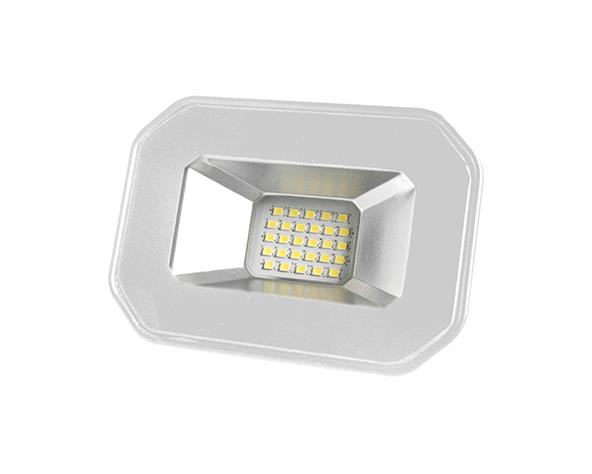 Refletor super LED, 100-240V 20W luz branca, cor branco, (1un.)