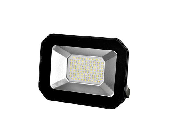 Refletor super LED, 100-240V 50W luz branca, cor preto, (1un.)