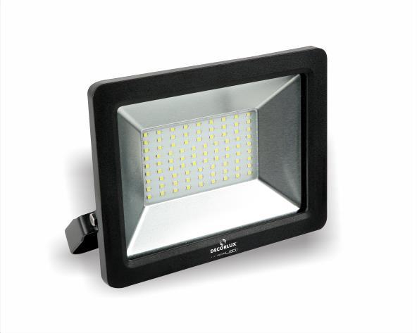 Refletor super LED, 100-240V 50W luz verde, cor preto, (1un.)