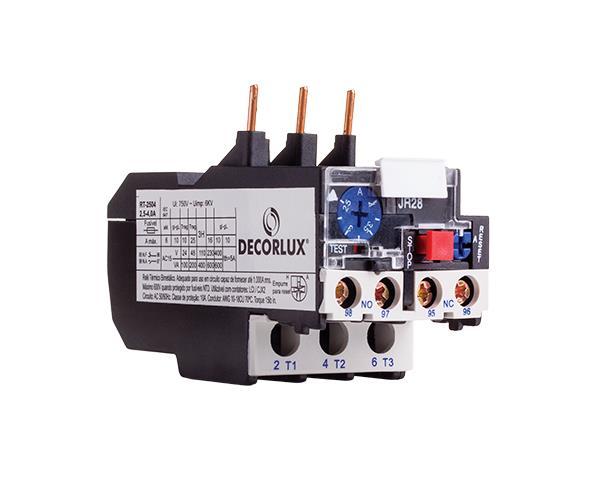 Relé térmico e sobrecarga 25A - Ajuste 5.5-8.0A, (1un.)