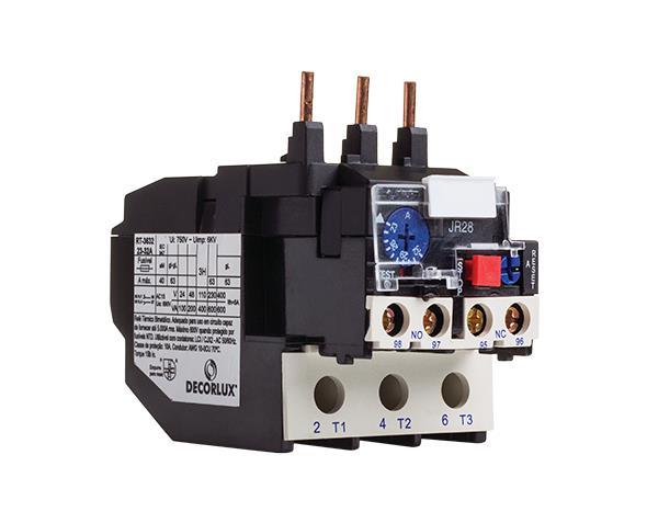 Relé térmico e sobrecarga 36A - Ajuste 28.0-36.0A