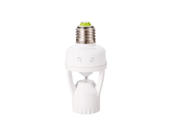 Sensor de presença com base E27 - 6m 100-240V, cor branco, (1un.)