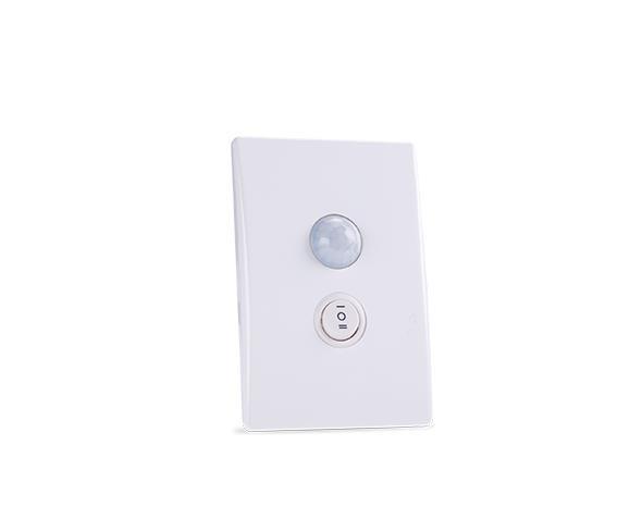 Sensor de presença com chave 9m-4x2-100-240V, cor branco, (1un.)