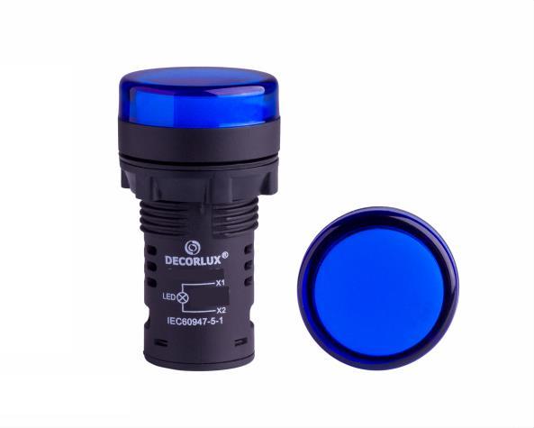 Sinalizador de LED Ø22mm, 110V, cor azul, (1un.)
