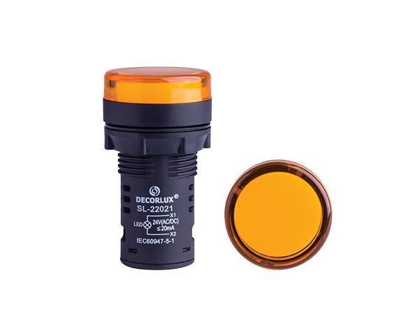 Sinalizador de LED Ø22mm, 220V, cor amarelo, (1un.)