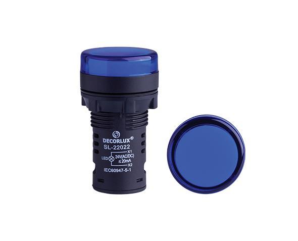 Sinalizador de LED Ø22mm, 220V, cor azul, (1un.)