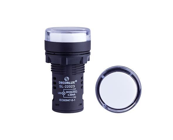 Sinalizador de LED Ø22mm, 220V, cor branco , (1un.)