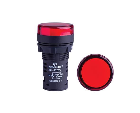 Sinalizador de LED Ø22mm, 220V, cor vermelho, (1un.)