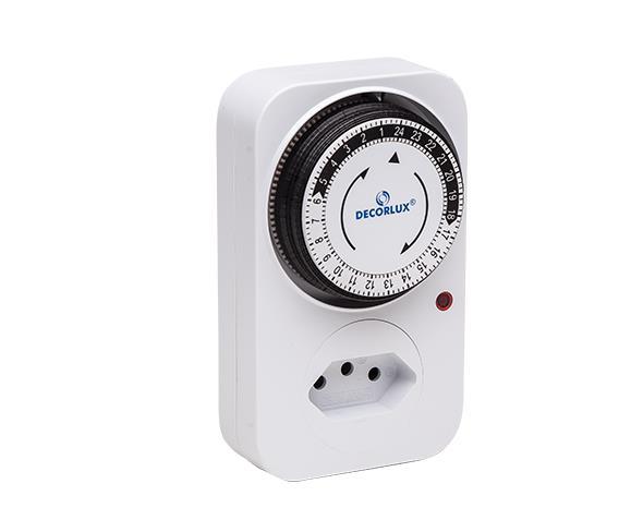 Temporizador analógico 100-240V 10A, cor branco, (1un.)