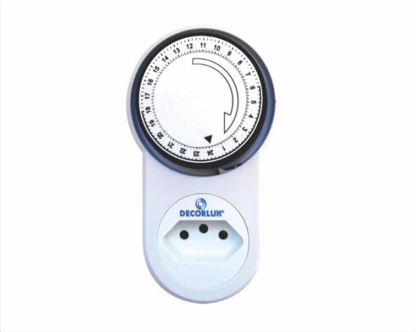 Temporizador analógico 100-240V 10A , cor branco