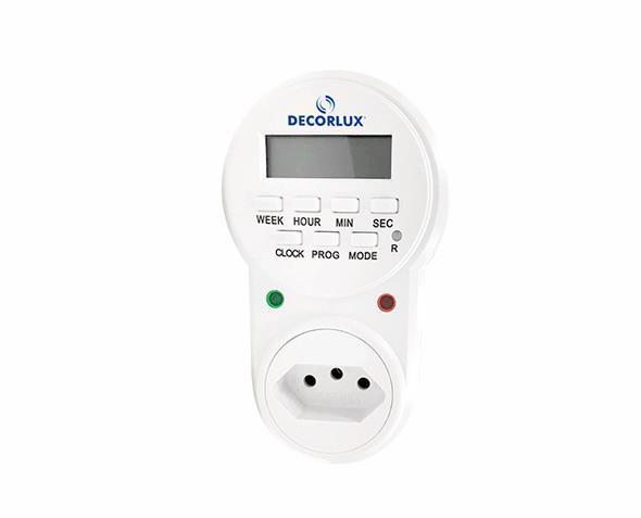 Temporizador digital 100-240V 10A, cor branco, (1un.)